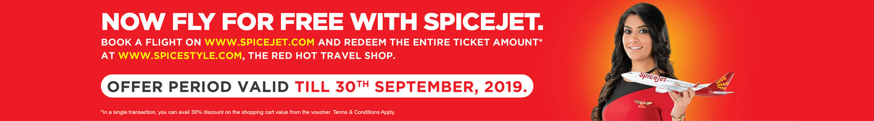 Spicejet SpiceStyle Fly For Free