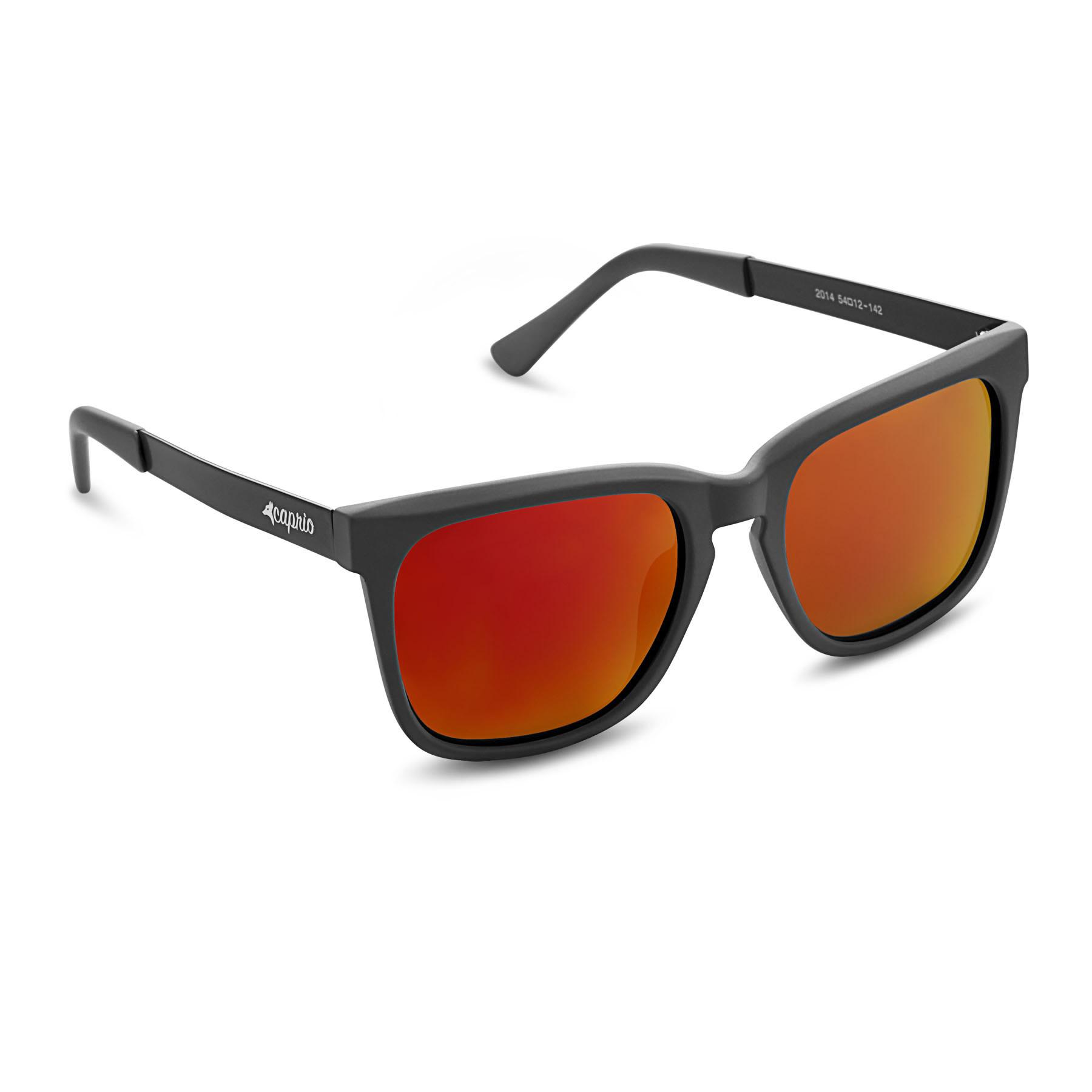 8916c8efd1a39 Caprio Unisex Mirrored Metallic Wayfarer Sunglasses