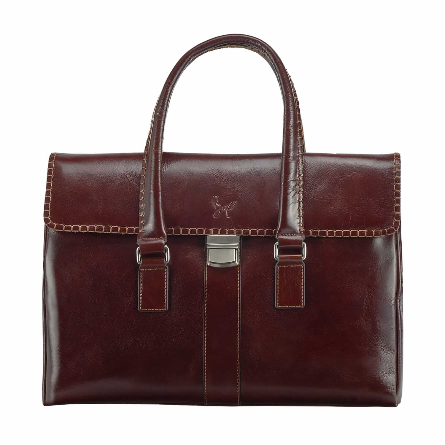 450483a7ac802d Rohit Bal Leather Briefcase Office Bag for Men