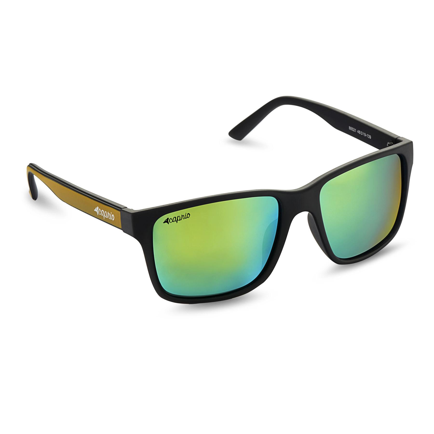 35c44b8e0ba Caprio Unisex Mirrored Wayfarer Sunglasses
