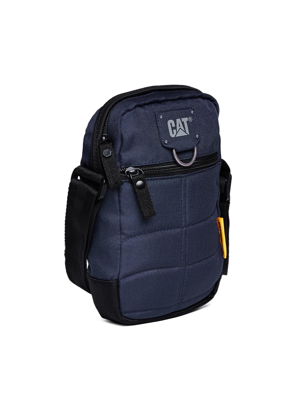4539f5964d CAT Millenial Classic Polyester 15 cms Navy Blue Messenger Bag (83437-157)