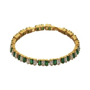 Lesk Embellished Chain Bracelet