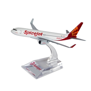 Spice Modello Small Boeing 737-800 Series SpiceJet Aircraft Collectible