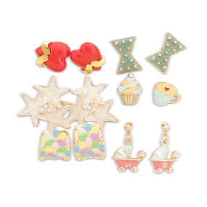 Lesk Assorted  Set of Earrings