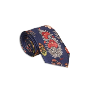 Rohit Bal Floral Silk Tie & Pocket Square Set