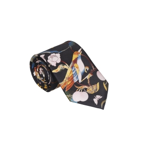 Rohit Bal Bird Silk Tie & Pocket Square Set
