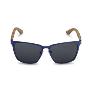 Caprio Unisex Wooden Rectangular Sunglasses
