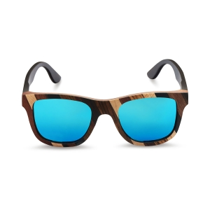 Caprio Unisex Bold Wooden Sunglasses