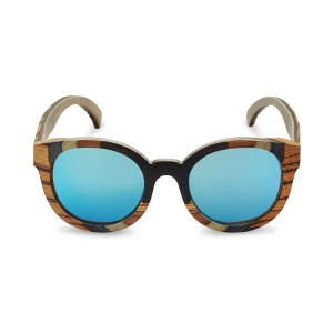 Caprio Round Wooden Sunglasses for Women