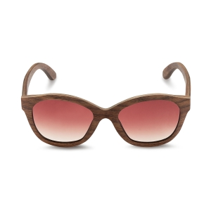 Caprio Wooden Mirrored Sunglasses for Women