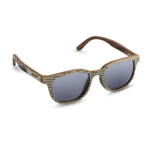Caprio Unisex Newspaper Print Sunglasses