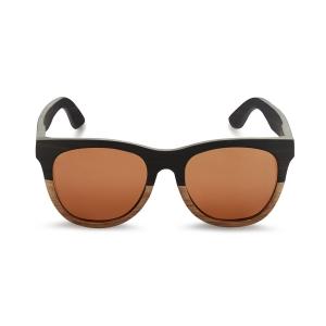 Caprio Unisex Wooden Reflector Sunglasses