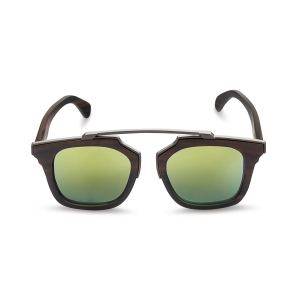 Caprio Unisex Wooden Abstract Sunglasses