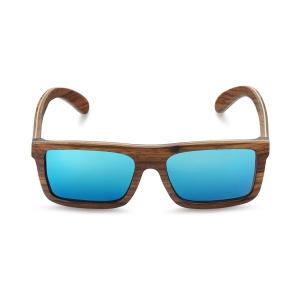 Caprio Wooden Classic Rectangular Sunglasses for Men