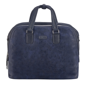 Rohit Bal Unisex Two Tone Leather Laptop Bag