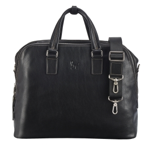 Rohit Bal Unisex Leather Laptop Bag