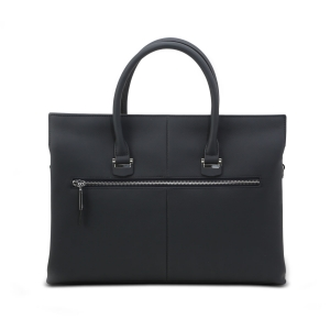 Vajero East-West Constrast Strap Leather Bag for Men