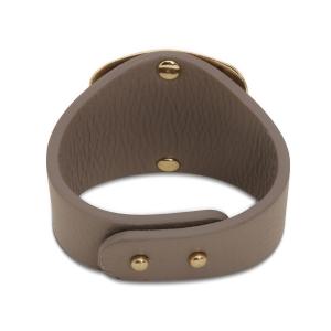 Lesk Wide Leather Cuff Bracelet