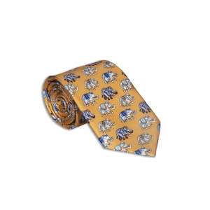 Rohit Bal Elephant Silk Tie & Pocket Square