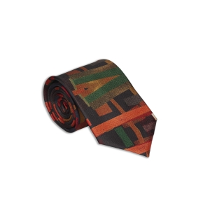 Rohit Bal Abstract Silk Tie & Pocket Square