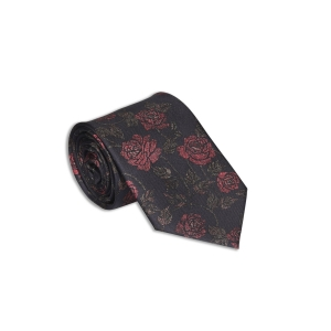 Rohit Bal British Rose Silk Tie & Pocket Square