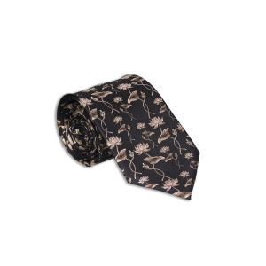 Rohit Bal Lotus Silk Tie & Pocket Square