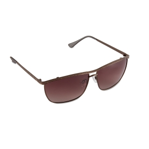 Caprio Unisex Sleek Double Bridge Rectangular Sunglasses