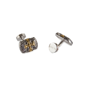 Rohit Bal Cross Carved Cufflinks