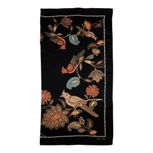 Rohit Bal Bird Print Silk Scarf