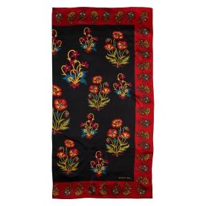 Rohit Bal Floral Print Silk Scarf