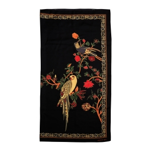 Rohit Bal Parrot Print Silk Scarf
