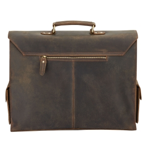 Rohit Bal Brushed Antique Leather Satchel Bag