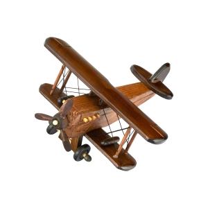 Spice Modello  Wooden Vintage Biplane Airplane