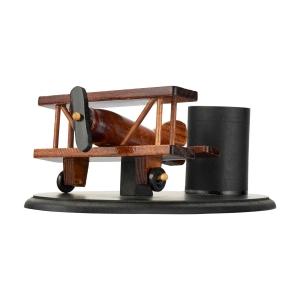 Spice Modello Wooden Vintage Airplane Pen Stand