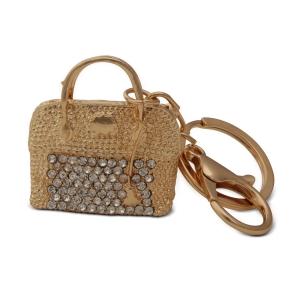 Lesk Embellished Bag Keychain