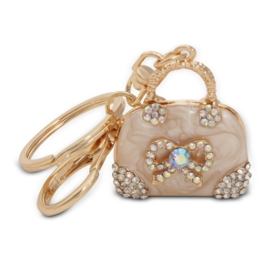 Lesk Embellished Bag with a Bow Keychain