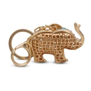 Lesk Embellished Elephant Keychain