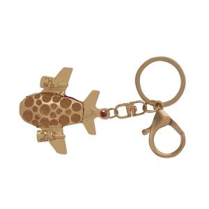 Lesk Embellished Aeroplane Keychain