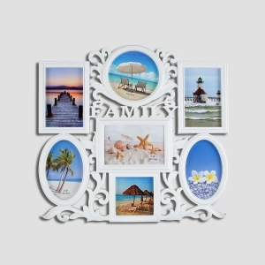 Spice Modello Antique Design Seven Picture Multi-Frame