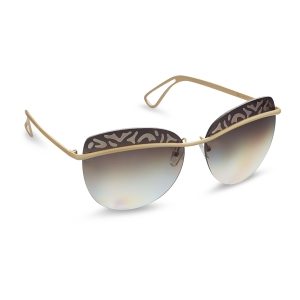 Caprio Rimless Oval Sunglasses for Women