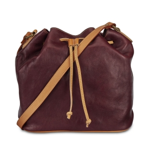 Rohit Bal Leather Bucket Bag for Women