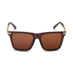 Caprio Unisex Textured Temple Wayfarer Sunglasses