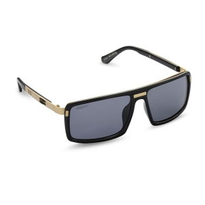 Caprio Unisex Rectangular Shield Sunglasses