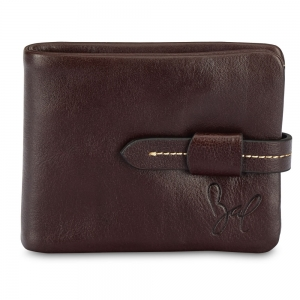 Rohit Bal Leather Stitch Clip Wallet for Men