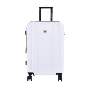 CAT Orion ABS 66 CM White Hardside lightweight Check In Suitcase/trolley (83655-1009)