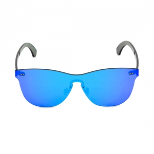 Rohit Bal Blue Mirrored Rimless Oval Sunglasses