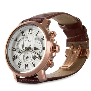 Forst Leather Strap Chronograph Watch for Men