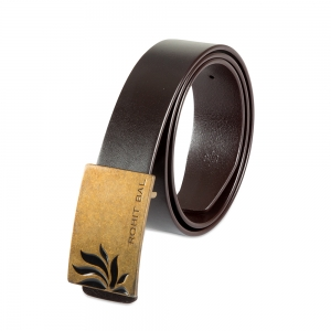 Rohit Bal Half Lotus Buckle Coffee Brown Italian Leather Belt (28/30)