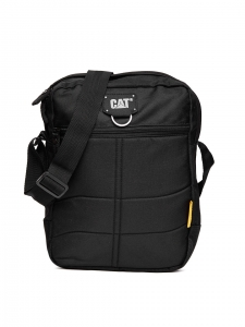CAT Unisex Ryan 7 Ltrs 4 Compartment Black Solid Casual Messenger Bag (83434-01)