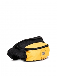 CAT Unisex Raymond 2 Ltrs 3 Compartment Black/Yellow Solid Casual Messenger Bag (83432-12)